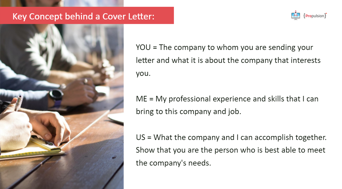 Key concepts of the cover letter