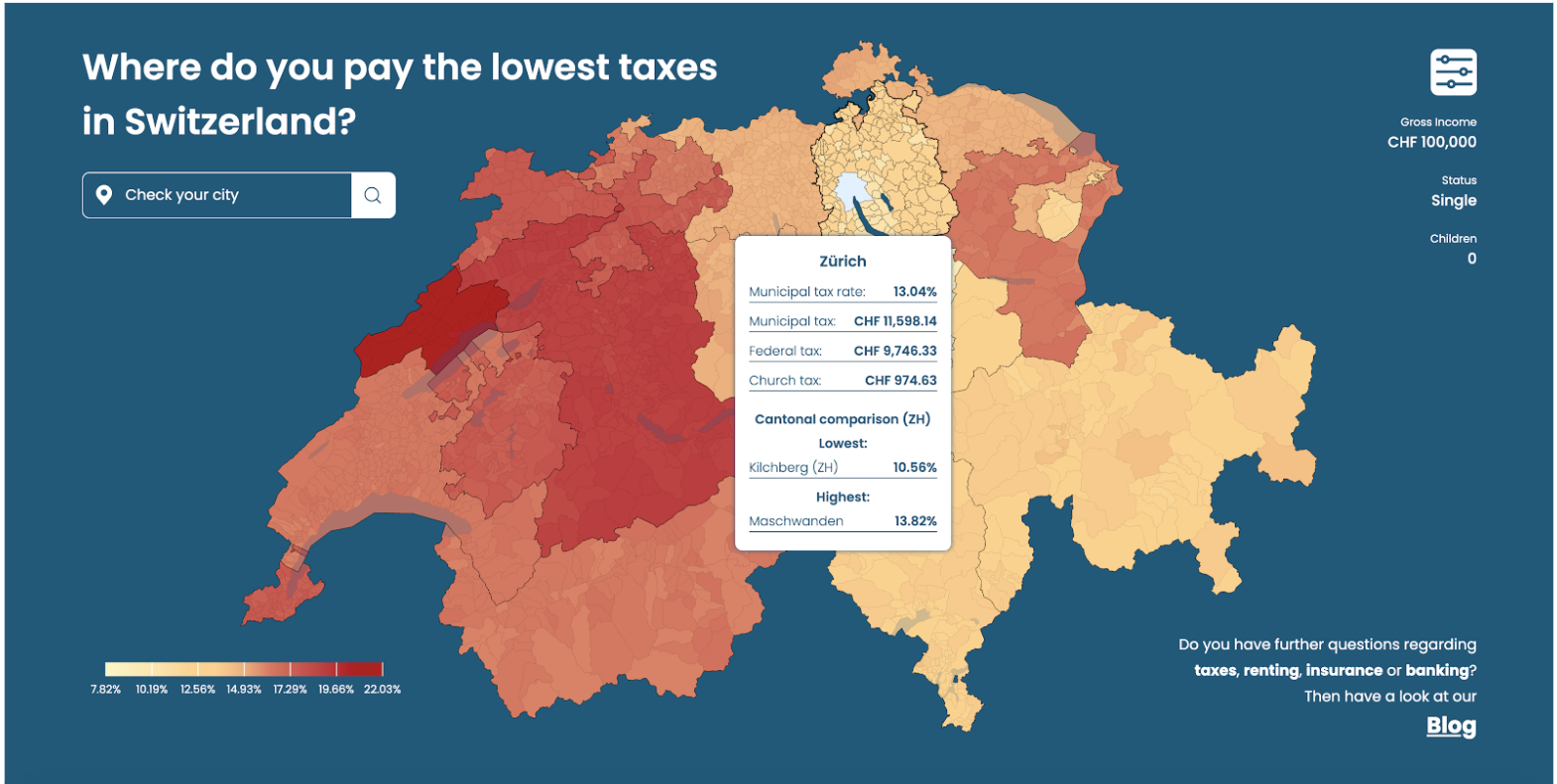 Final student project TaxJungle: tax map Zurich