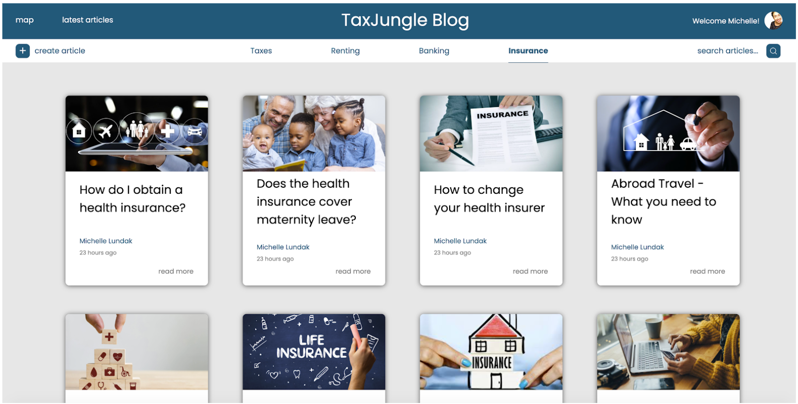 Final student project TaxJungle: blog