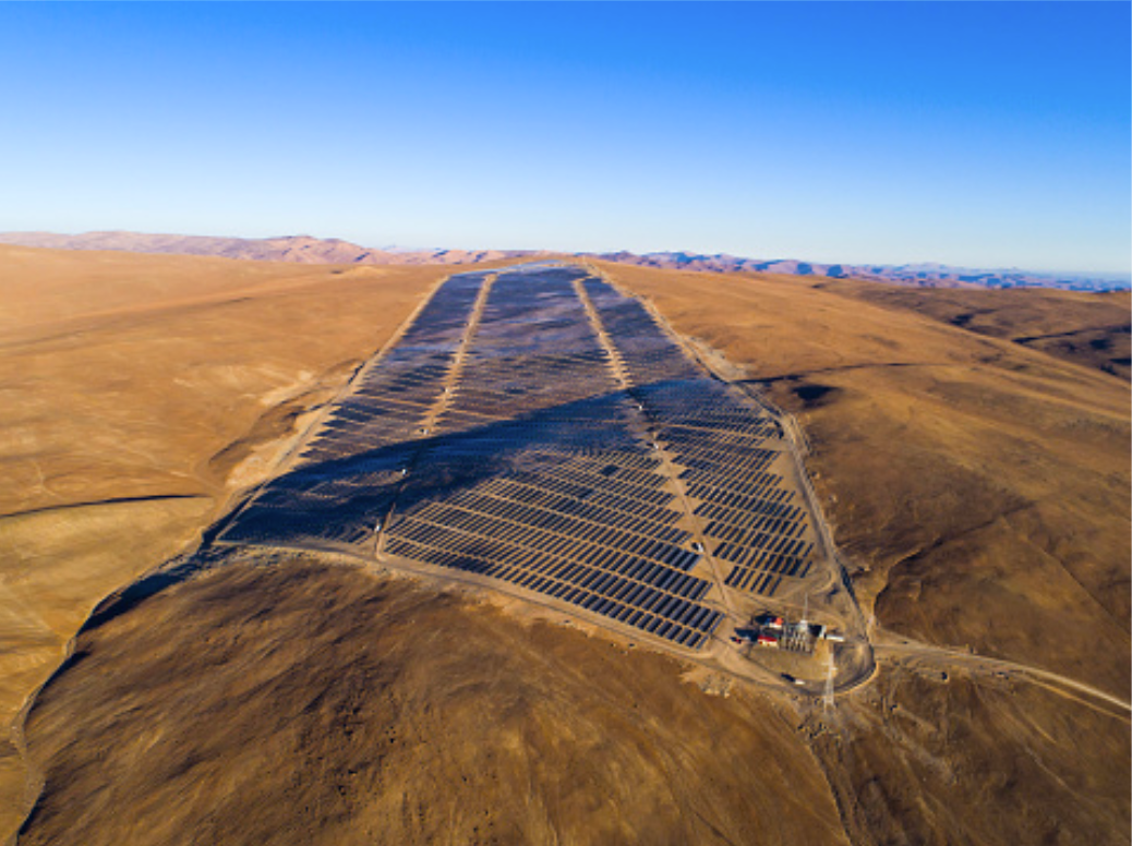 PV plant in the Atacama desert in Chile